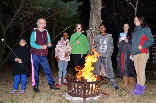 Camp fire games & toasting marshmallows